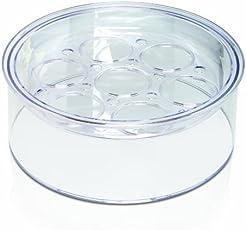 EuroCuisine Glass Cookware GY4 Top Tier Yogurt Maker (Clear, One size)