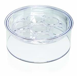 EuroCuisine Glass Cookware Top Tier Yogurt Maker (Clear, One size)