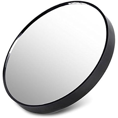 Aumento 10x Cristal de espejo taza de la succión del maquillaje compacto cosmético del recorrido