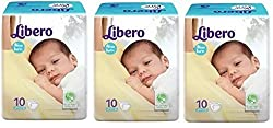 Libero New Born baby 10 Count Pack of 3