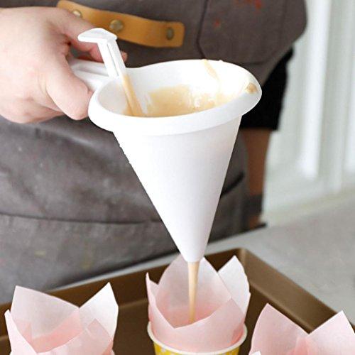 sunnymi Einstellbar Schokolade Trichter  Chocolate Funnel zum Backen Kuchen Dekorieren Tools Küche