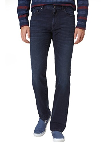 Pioneer Herren Straight Jeans Rando Blau (Dark Used With Buffies 447)