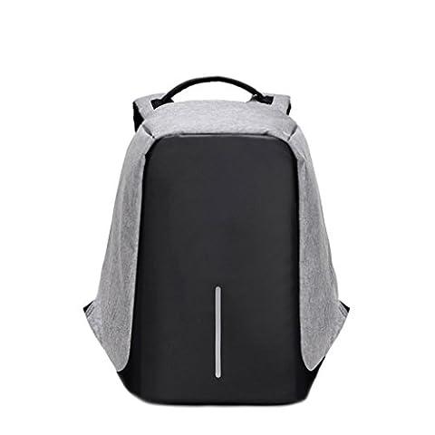 Sac à dos,Manadlian Business Sacs à dos pour ordinateur portable Anti Theft Waterproof Resistant Sac de voyage Sac à dos (Taille libre, Gris)