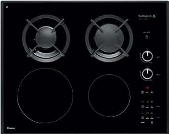 Dedietrich DTI702B - De Dietrich DTI702B - Table de cuisson mixte induction et gaz - 4 élément(s) - noir