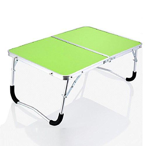 CLOTHES- Aluminiumlegierung MDF Panel Laptop Schreibtisch einfach zu tragen die Tabelle Kind College Study Schreibtisch im Bett Outdoor Camping kleinen Tisch Frühstückstisch