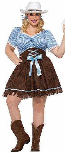 ize Cowgirl Costume, Multi/Color, Plus ()