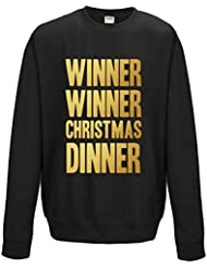 Direct 23 Ltd Winner Winner Christmas Dinner Adults Sweatshirt