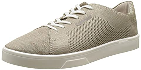 Calvin Klein Ilene 2 Heathered Knit/Solid Kni, Sneakers Basses Femme, Multicolore (Cocoon/Gold/Ivory), 39 EU