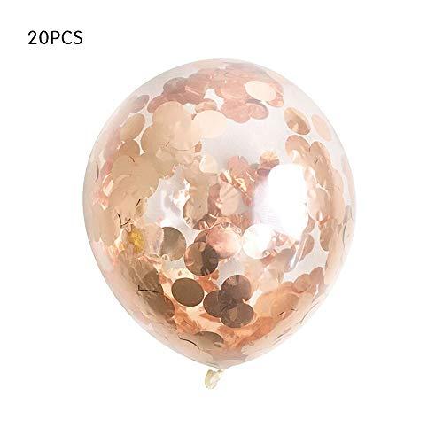 Gold Konfetti Ballons Premium Latex Glitter Ballons für Hochzeit, Graduierung, Vorschlag, Baby Shower Boy Girl Adult Geburtstag Party Dekorationen ()