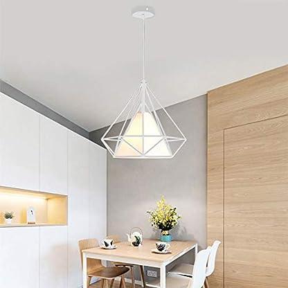Tobaling Lampada a Sospensione E27 Gabbia, Lampadario Industriale Retro di Diamanti per Cafe, Bar, Cucina, Corridoio Sala