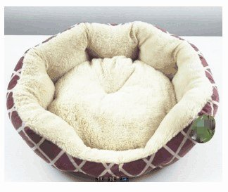 Gute Sleeper (ANPI Deluxe Pet Bett für Katzen und kleine Hunde Rechteck Cuddler Ultra-Soft Plüsch Solid Pet Sleeper Maschine waschbar (70x65x14cm, Rot))
