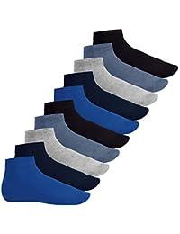 Footstar Herren & Damen Kurzschaft Socken (10 Paar), Quarter Socken aus Baumwolle - Sneak It!