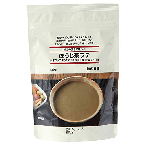 Muji Instant Hojicha Roasted Green Tea Latte Powdered Drink 120g