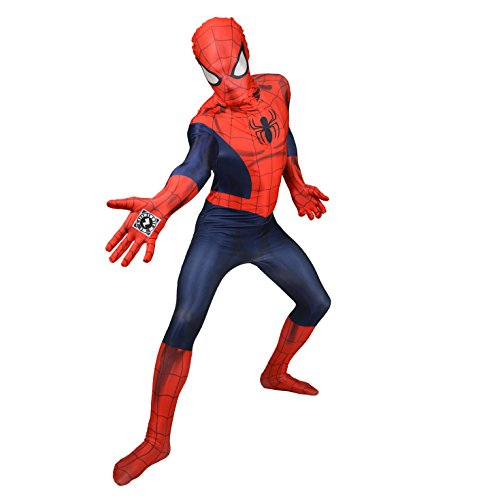Morphsuits Offizieller Spiderman Delux Digital, Verkleidung, Kostüm - Large 5'3 - 5'9 (159cm - 175cm) (Spiderman Kostüm Bodysuit)