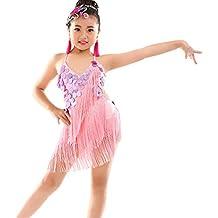 Magogo Vestidos de Baile Latino para niñas ca0734e38e1