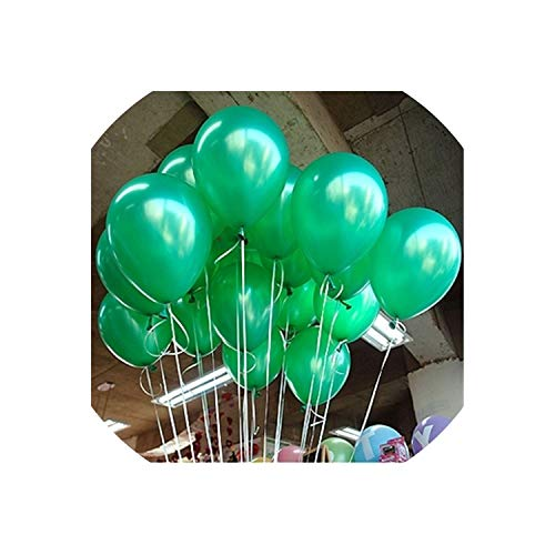 Archiba 10pcs 12inch 2.2g Black Latex Balloons Helium Balloon Inflatable Wedding Decorations Kids Air Balls Happy Birthday Party Balloon,A12 Green Round,1.5g