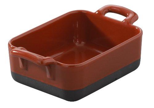 REVOL 647600 RAVIER RECTANGULAIRE, Porcelaine, Rouge Piment