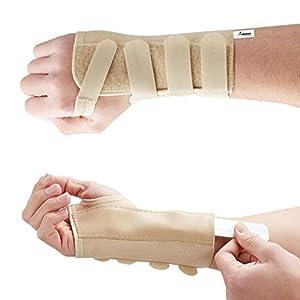 Actesso Elastische Handgelenkschiene Handgelenkbandage – Bandage für Karpaltunnelsyndrom oder Verstauchungen – Medizinisch zugelassen