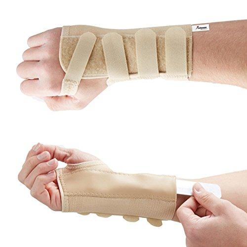 Actesso Elastische Handgelenkschiene - Karpaltunnelsyndrom Schiene oder Verstauchungen (Mittelgröß Rechts) - Elastische Handgelenk Hand Stütze