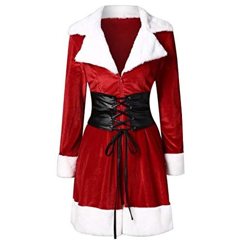 Vovotrade ☁ cappotto di velluto di pelliccia di natale cappotto di pelliccia di natale with cappotto di velluto di natale con fasciatura costumi di natale