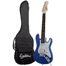 Tipo eagletone Sun Estado Mini Stratocaster guitarra eléctrica 3/4 para el niño azul