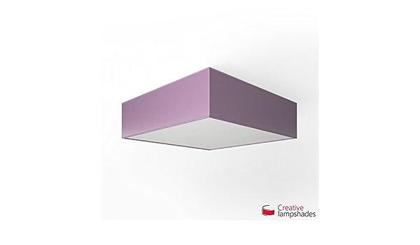 Plafoniere Quadrate In Tessuto : Plafoniera quadrata rivestimento ankara lilla seite 50cm h. 15cm