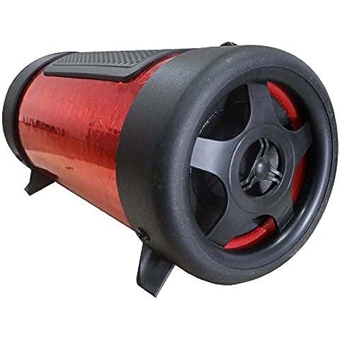 Eaglerich Speaker Disk Moderna 4 pollici Tunnel 12V Car Audio Subwoofer Bass TF di sostegno U rotonda variopinta flanella 3 colori per opzione