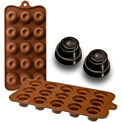 Ibili 860304 - Molde bombón Delice 15 cavidades 100% silicona