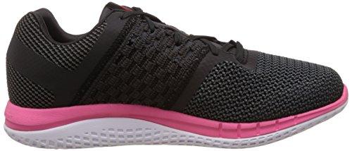 Reebok Zprint Run Chaussures de Sport Femme Negro / Rosa / Blanco (Black/Gravel/Solar Pink/Blk Refl/Wht/Coa)