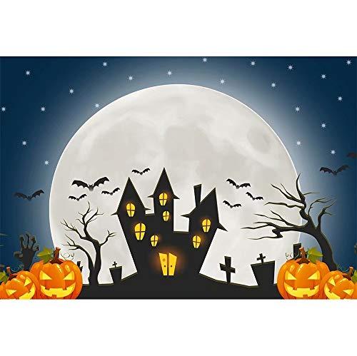 Cassisy 1,5x1m vinile halloween foto da sfondo festa di halloween zucche di halloween città spettrale cimitero fondali fotografia bambini photo studio puntelli photo booth