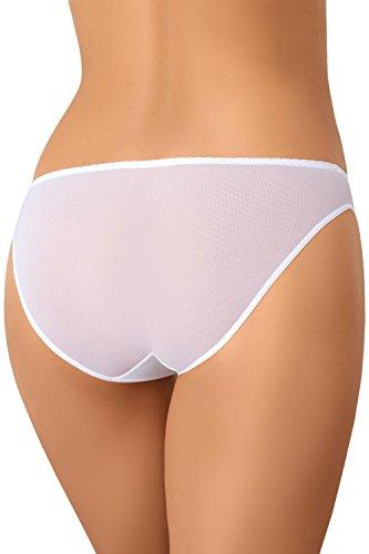 Teyli Dame Slips Unterhose Unterwäsche Musterlos 330 Weiß