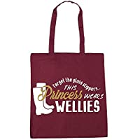 WENNUNA Forget The Glass Slippers This Princess Wears Wellies Tote Shopping Gym Beach Bag