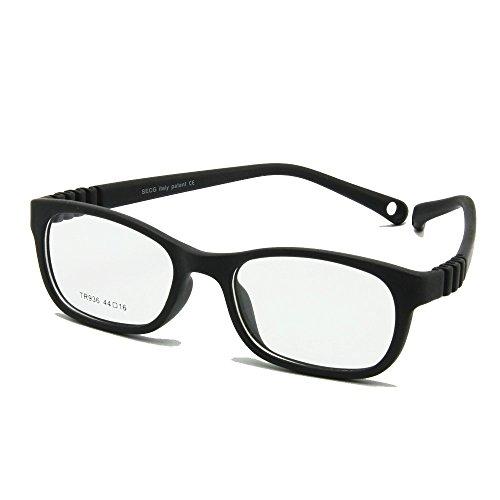 EnzoDate Flexible Kinder Brillen Rahmen Größe 44/16 TR90 Kinder Gläser, Keine Schraube, Unzerbrechlich Safe Light Boys Mädchen Optische Brillen