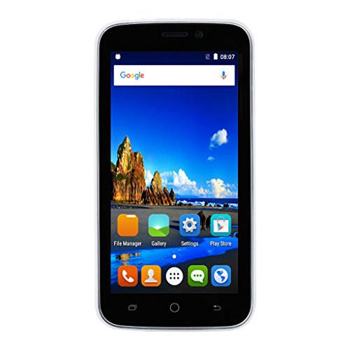 Blackview A5 Dual SIM 3G Smartphone 4.5 Zoll Android 6.0 QHD Bildschirm Quad-core 1.3GHz RAM 1GB 8GB ROM Dual Kamera Handy ohne Vertrag Gesture Unlock WIFI Bluetooth GPS FM Schwarz