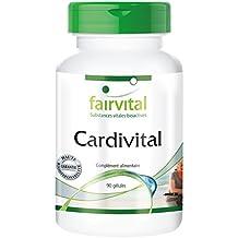 Cardivital - Vitamines pour le cœur - 90 gélules végétariennes avec vitamines, minéraux, acides aminés, extrait de pépins de raisin, coenzyme Q10 et bien d'autres