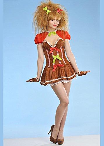 8in1 Erwachsener Frauen Weihnachten Lebkuchen Mädchen Kostüm XS ()