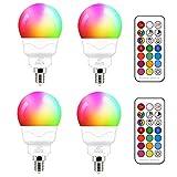 Ampoule LED E14 5W (équivalent 40W) Couleur RGB Changement Variation Coloré RGBW...