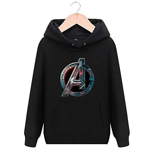 T.M.R.W. Clothing Marvel Shield Agent Pullover Avengers 3 Infinite War Kleidung Marvel Hooded Jacket Unisex Sweatshirt (Plus Velvet) A-L - Agent Hooded Sweatshirt