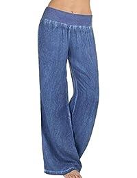 dff64dd449 Amazon.it: pantaloni donna a palazzo - Blu / Jeans / Donna ...