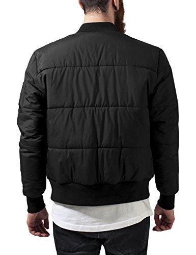 Urban Classics Herren Jacke Basic Quilt Bomber Jacket Schwarz (Black 7)