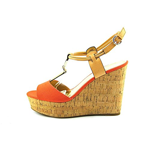 Sandales plateforme Coach Linden Wedge Papaya-Natural