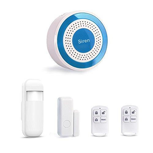 Standalone-433MHz Innen Alarm Sirene Set mit Tür Sensor Bewegungsmelder Fernbedienungen Onsite Stroboskop Sirene Home Security System Security System Smart Siren