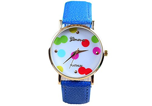 Geneva Geneva Platinum Dots - Reloj color azul