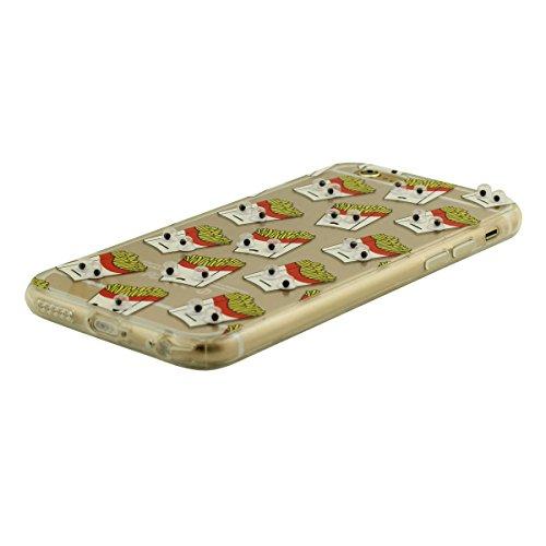 """iPhone 7 Coque Très Mince Transparent Flexible TPU, Dessin Animé Style Mignon Motif (Yeux peuvent se déplacer) Case étui de Protection pour Apple iPhone 7 4.7"""" - Cheval Blanc Color-4"""