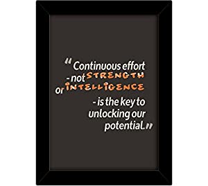 TiedRibbons® Motivational wall posters for teenagers with frame | wall posters quotes | inspiring quotes book | poster inspiring (13.6 inch X 10.2 inch,Framed Poster)