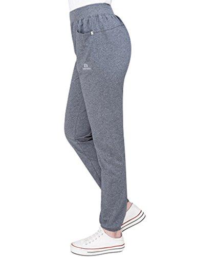 Youlee Donna Vita elastica Pantaloni dritti Pantaloni casual Stile 3 Deep Grey