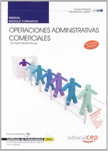 Descargar Libro Manual Operaciones administrativas comerciales (MF0976_2). Certificados de profesionalidad (Cp - Certificado Profesionalidad) de Ana Isabel Zapatero Álvarez