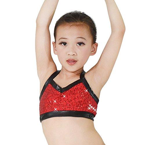 MiDee Hemdchen, Oder So Was Pailletten Tanzt Kostüme Trainingssachen Mieder Pflanzlichen Tops (MA, (Fitness Pole Kostüme)