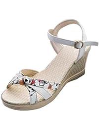 Ouneed ® Las mujeres cuero verano sandalias ojotas
