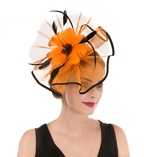 Einfach Cocktails Für Halloween - Fascinators Hut Blume Mesh Bänder Federn